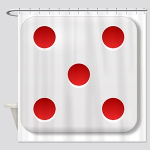 5 Dice Roll Shower Curtain