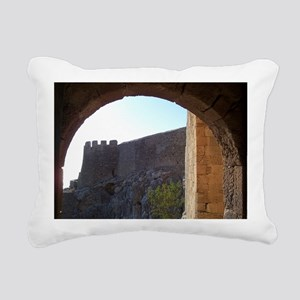 lindos_greece_framed_pri Rectangular Canvas Pillow