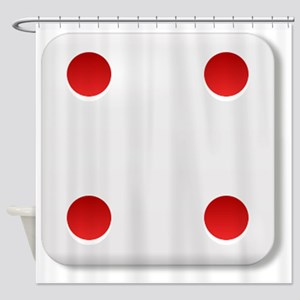 4 Dice Roll Shower Curtain