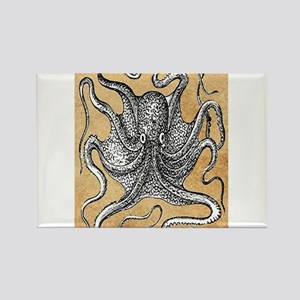 Victorian Octopus on Parchment Magnets