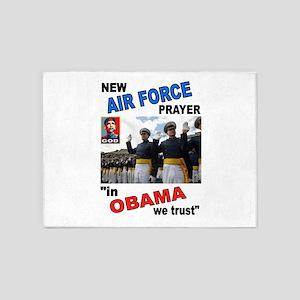 AIR FORCE PRAYER 5'x7'Area Rug