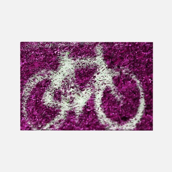 Bicycle Hot Pink Rectangle Magnet