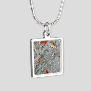 Cr4.25x5.5SF Silver Square Necklace