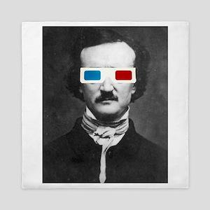 Edgar Allan Poe 3D Glasses Altered Art Queen Duvet