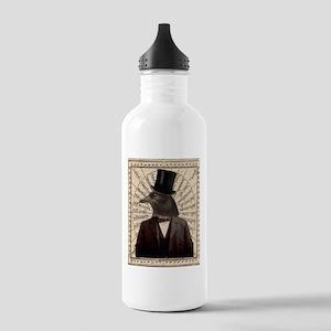 Victorian Steampunk Crow Man Altered Art Water Bot