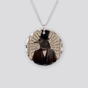 Victorian Steampunk Crow Man Altered Art Necklace