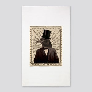 Victorian Steampunk Crow Man Altered Art 3'x5' Are