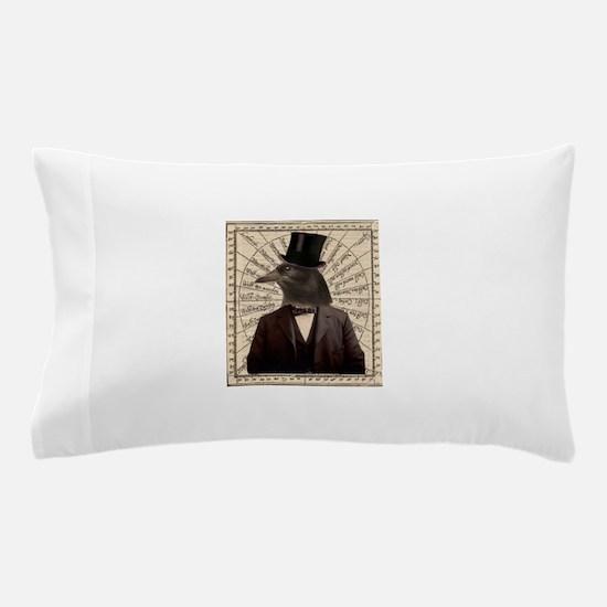Victorian Steampunk Crow Man Altered Art Pillow Ca