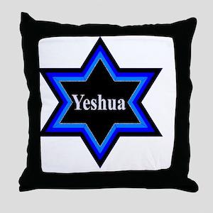 Yeshua Star of David Throw Pillow