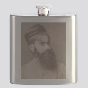 Victorian Circus Sideshow Freak Bearded Lady Flask