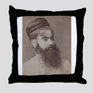 Victorian Circus Sideshow Freak Bearded Lady Throw