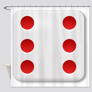 6 Dice Roll Shower Curtain