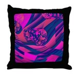 Creating Worlds Abstract Fractal Throw Pillow