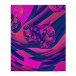 Creating Worlds Abstract Fractal Throw Blanket