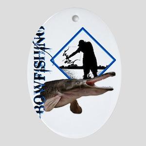 Bowfishing0001 Oval Ornament
