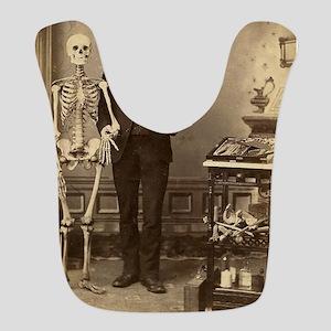 Edgar Allan Poe Victorian with Skeleton Skull Bib