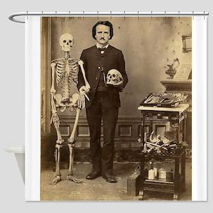 Edgar Allan Poe Victorian with Skeleton Skull Show