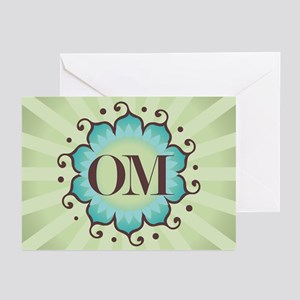 Lotus OM Green - Greeting Cards (Pk of 10)