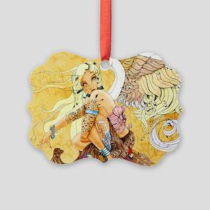 blondeangel11x17 Picture Ornament