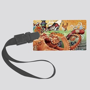 octokoi11x17 posters Large Luggage Tag