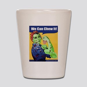Zombie Rosie the Riveter We Can Chew It Shot Glass