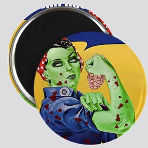 Zombie Rosie the Riveter We Can Chew It Magnets