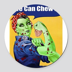 Zombie Rosie the Riveter We Can Chew It Round Car