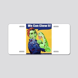 Zombie Rosie the Riveter We Can Chew It Aluminum L