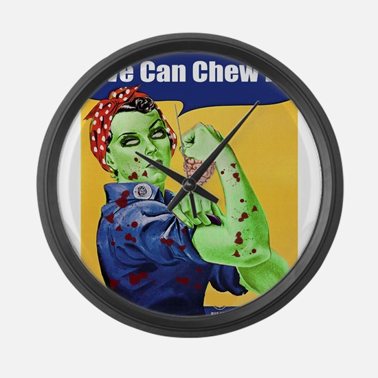 Zombie Rosie the Riveter We Can Chew It Large Wall