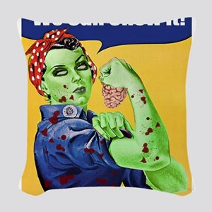 Zombie Rosie the Riveter We Can Chew It Woven Thro