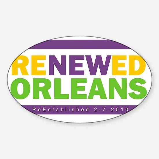 RenewedMardiGras Sticker (Oval)