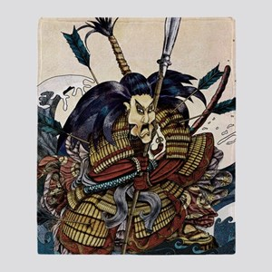 samuraibattle11x17 posters Throw Blanket