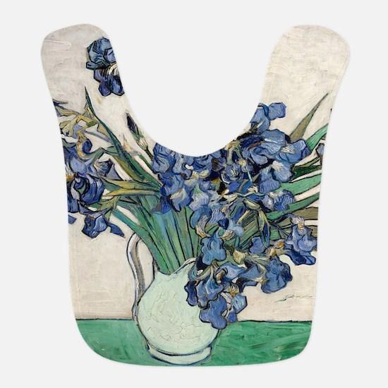 Van Gogh Irises Bib