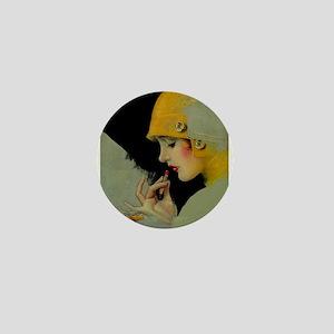 Art Deco Roaring 20s Flapper With Lipstick Mini Bu