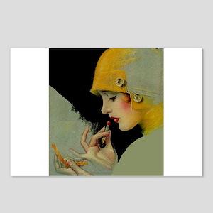 Art Deco Roaring 20s Flapper With Lipstick Postcar