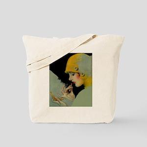 Art Deco Roaring 20s Flapper With Lipstick Tote Ba