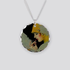 Art Deco Roaring 20s Flapper With Lipstick Necklac