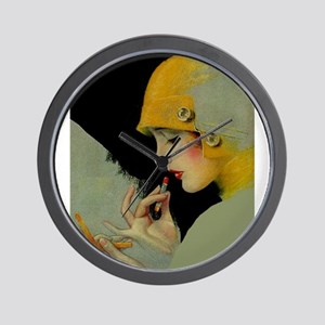 Art Deco Roaring 20s Flapper With Lipstick Wall Cl