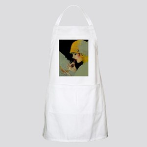 Art Deco Roaring 20s Flapper With Lipstick Apron