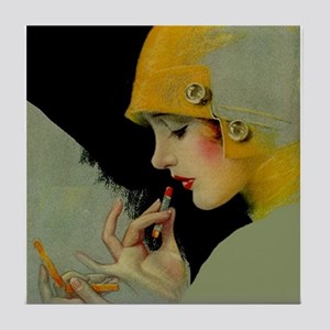 Art Deco Roaring 20s Flapper With Lipstick Tile Co