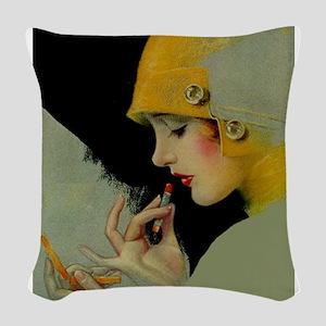 Art Deco Roaring 20s Flapper With Lipstick Woven T