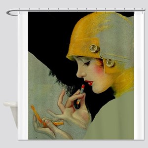 Art Deco Roaring 20s Flapper With Lipstick Shower