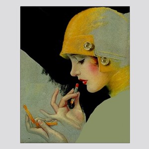 Art Deco Roaring 20s Flapper With Lipstick Posters