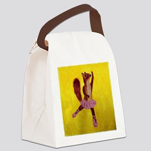 Ballet Squirrell Canvas Lunch Bag