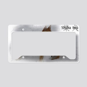 Shiba snow License Plate Holder