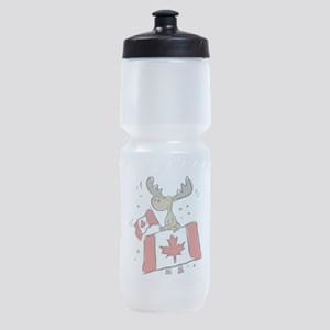 Canada Day Moose Sports Bottle
