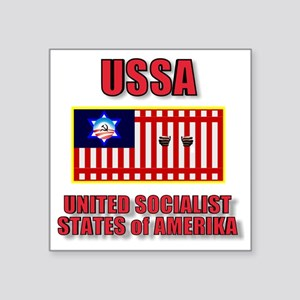"UNITED SOCIALIST STATES-3 Square Sticker 3"" x 3"""