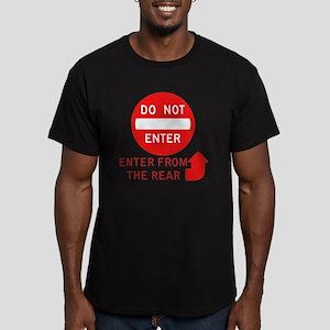 donotenter Men's Fitted T-Shirt (dark)