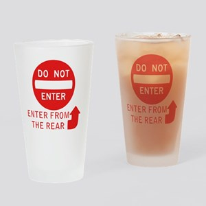 donotenter Drinking Glass