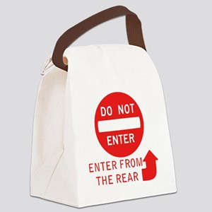 donotenter Canvas Lunch Bag